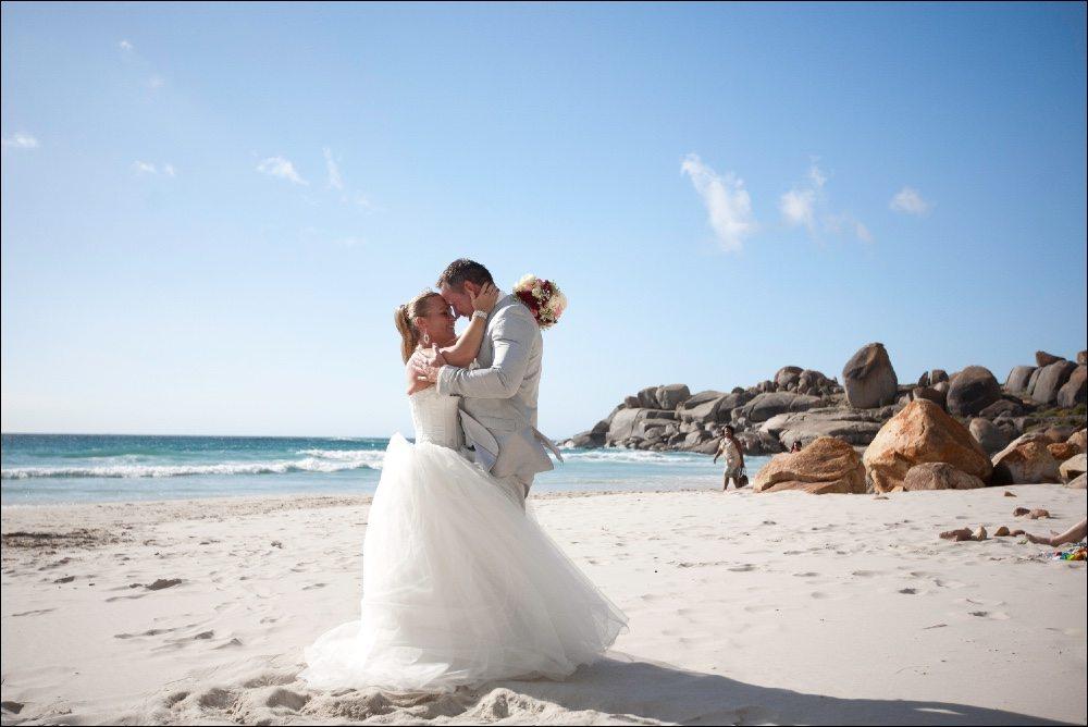 Trouwen in Zuid-Afrika Trouwen op het strand